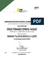 Sertificado Servicio Al Cliente Sergio Espinosa