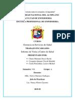 INFORME DEL ESTABLECIMIENTO CLAS 1-3