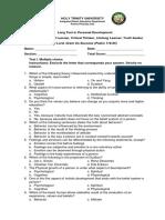 Long Test in Personal Development