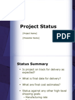 Project Status Report Presentation