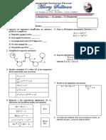 Examen de algebra 4to Primaria