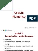 Unidad IV Interpolacion y Ajuste de curvas.pdf