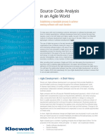 Source Code Analysis Agile World