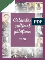 Calendar Cultural Galatean 2020