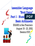 assembler boot camp 1 - number and basic arithmetics