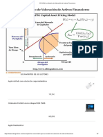 El CAPM, Un Modelo de Valoración de Activos Financieros