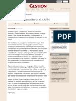 Un Modelo Financiero El CAPM