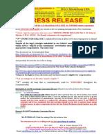 20191230-PRESS RELEASE Mr G. H. Schorel-Hlavka O.W.B. ISSUE - Re 'UNIFORM' Volunteer Compensation
