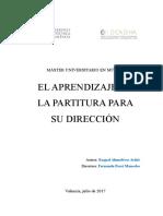 ALMUDÉVER - EL APRENDIZAJE DE LA PARTITURA PARA SU DIRECCIÓN