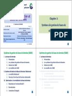Chapitre 3_Systèmes de Gestion de Bases de Données (SGBD).PDF · Version 1