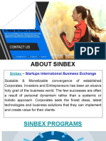 Sinbex Program for Investors and Startup