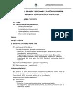 ESTRUCTURAS DE LOS PROYECTOS DE INVESTIGACION  DOCENTE 2016