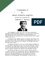 Manuel Estabilla Arguilla-Biography