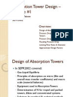 Absorption Tower Design – Lecture 1