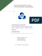 Verilog HDL LED driver report