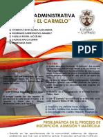 AUDITORIA ADMINISTRATIVA COLEGIO EL CARMELO