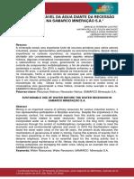 Artigo Uso Sustentável Da Água Diante Da Recessão Hídrica Na Samarco Mineração s.a Abm Week