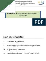 Chapitre 1- algorithmes iteratif et recursif