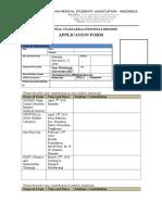 National Team Application Form