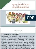Empaque y Rotulado en productos alimenticios