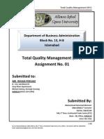 Assignement 1st 890 TQM Spring 2010