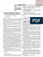 Decreto de urgencia N° 044-2019
