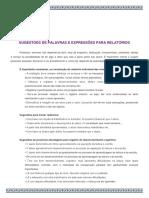 SUGESTÕES DE PALAVRAS E EXPRESSÕES PARA RELATÓRIOS 2