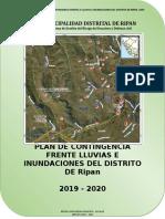 PLAN DE CONTINGENCIA LLUVIAS E INUNDACIONES RIPAN