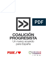 El acuerdo de gobierno entre PSOE y Unidas Podemos