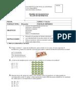 diagnostico 4° taller matematica