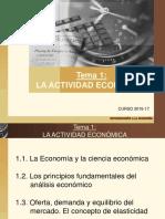 Tema 1 La actividad económica_2016-17