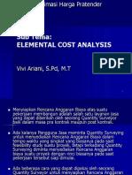 ECA (Elemental Cost Analysis)