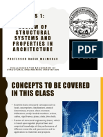 Class 01 Review of Structural Systems and Properties in Architecture