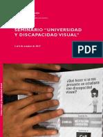 Relatoría Universidad y discapacidad visual