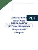 Data Science Interview Preparation(#DAY 18)