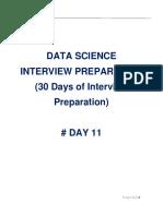Data Science Interview Preparation(#DAY 11)