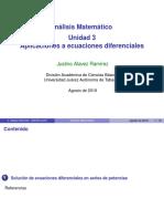 Notas de series y ecuaciones diferenciales.