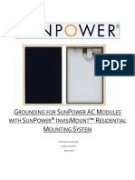 Grounding for SunPower AC Modules with SunPower InvisiMount Residential Mounting System 518393 RevA