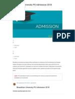 Bharathiar University PG Admission 2018 _ AglaSem Admission