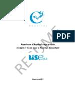 Plateforme d'Apprentissage LISE_2_0 Resume