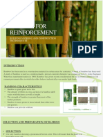 BAMBOO FOR REINFORCEMENT