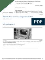 Ubicación de los conectores y componentes eléctricos