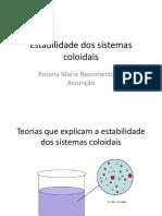 Estabilidade dos sistemas coloidais