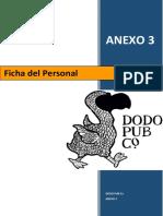 ANEXO 3 Ficha del Personal
