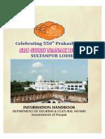 550th Prakash Purab Sri Guru Nanak Dev Ji- Information Handbook