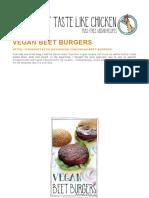 Receta de Hamburgesas Veganas y Vejetarianas
