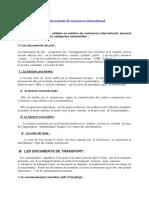 Les documents de commerce international