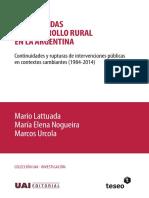 Lattuada et al - Desarrollo rural Argentina 1984-2014.pdf