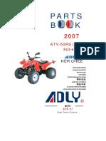 Adly ATV-50RS(EU2-2007) Parts
