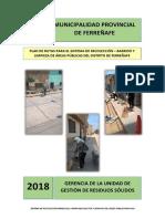 PLAN DE RUTAS PARA EL SISTEMA DE RECOLECCIÓN – BARRIDO Y LIMPIEZA DE ÁREAS PÚBLICAS DEL DISTRITO DE FERREÑAFE.pdf
